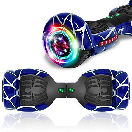 TPS Hoverboard Self Balancing Scooter fo Adults and Kids 300W Dual Motor 6.5' Wheels Bluetooth Speaker LED Lights Self Balance Hoverboards Great Gift UL2272 Certified (Blue)