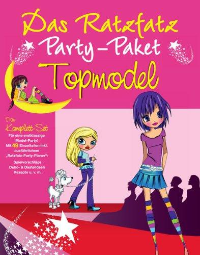 Ratzfatz Party-Paket Topmodel: 7 Einladungskarten, Deko, Basteln