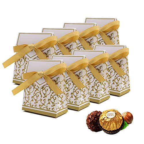 of aerwo party favors dec 2021 theres one clear winner 50PCS Mini Wedding Favor Box, Gift Boxes Candy Boxes with Gift Ribbons for Wedding Party Favor Party Decoration, Gold