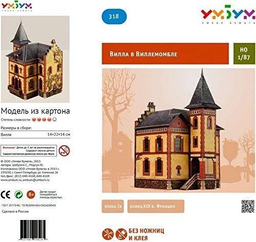 Clever PAPER-Keranova318 Tren Colección Edificios Villa En Villemomble Puzle 3D, Multicolor Keranova_318