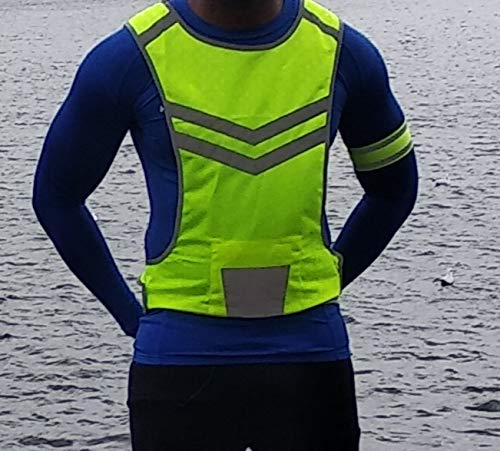 Endure Healthy Lifestyle Reflective Fluorescent High Visibility vest High Vis Running Cycling vest for Night Jogging, Dog Walking, Horse Riding (Medium)