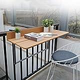 Ailj Table De Sol Murale, Balcon Balustrade Métal Table en Aluminium Suspendu Table Flottante...