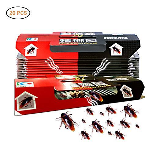 Neborn 20 trampas para cucarachas, casas, repelente de cucarachas, señuelo, fuerte adhesivo y respetuoso con el medio ambiente