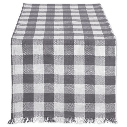 DII CAMZ37577 HEAVYWEIGHT FRINGED TR CHECK 14X72, 14 x 72, Checkers Gray