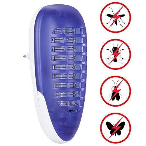 YUNLIGHTS Elektrischer Insektenvernichter Lampe, Mückenlampe Insektenfalle, 4W Plug-in Indoor Fliegenfalle für das Haus Garten Terrasse Büro Geschäft