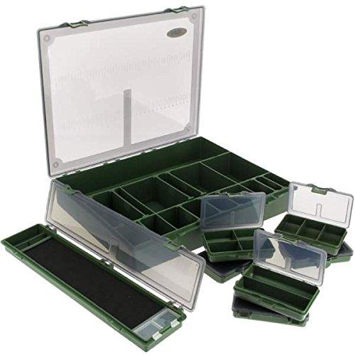 NGT–Tackle System 7+ 1L tacle Caja, Verde, L