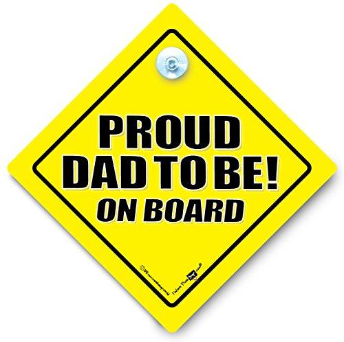 Proud Dad àêtre sur le Board, Fiers Dad àêtre sur le Board, Baby on Board, panneau bébéà bord, nouveauté, New Dad signe, signe de voiture bébéà bord, panneau de voiture, en voiture, Dad signe, Paternité, New Dad signe, autocollant pour voiture, Proud Daddy