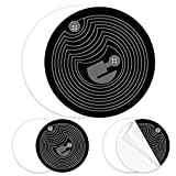 10pcs Black NFC Stickers NTAG215 NFC Tag Fully Programmable,NTAG 215 NFC Tags Compatible with TagMo and Amiibo,504 Bytes Memory,Compatible with Android and All Other NFC Enabled Devices