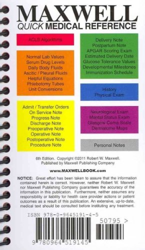 Compare Textbook Prices for Maxwell Quick Medical Reference  ISBN 9780964519145 by Maxwell, Robert W.