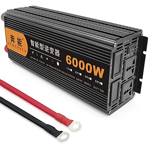 CHEIRS 3200W 4000W 5000W 6000W 8000W 9000W 12000W 15000W Inverter a Onda sinusoidale Pura Inverter a Corrente Continua DC 12V/24V a AC 220V Inverter di Potenza,6000W-24V