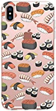 FancyCase Compatible with iPhone XR-New Fun Food Style Soft TPU Protective Clear iPhone XR Case by Fancy Case (Sushi Design)