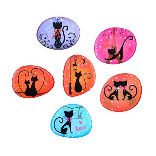 Morcart Black Cat Magnet Cute Refrigerator Magnets Decorative for Fridge Kids Adults Whiteboard Locker Best Gift Choice