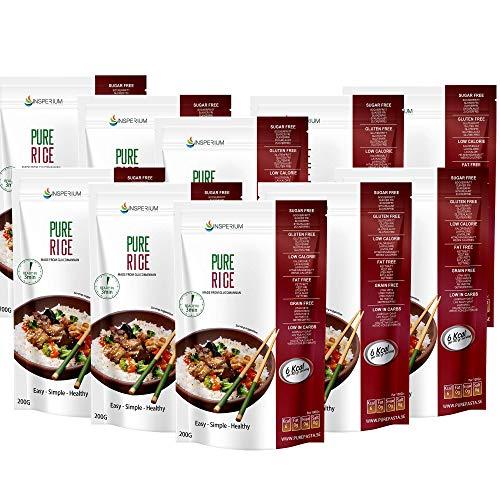 PureRice Arroz Konjac Sin Gluten 10 Pack 200 gramos | Vivir Sin Gluten Con Harina Gluten Free Con La Pasta Contra Intolerancia Gluten | Bajo En...