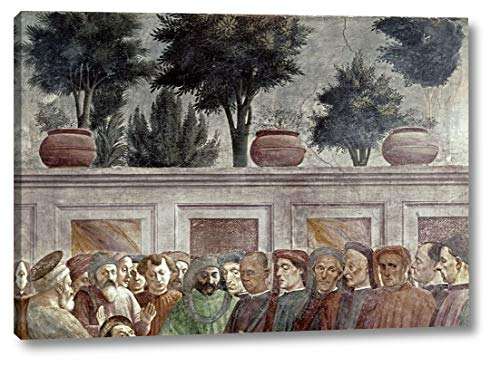 """St. Peter Resurrects The Child of Theophilus -2 by Masaccio - 11"""" x 16"""" Canvas Art Print Gallery Wrapped - Ready to Hang"""