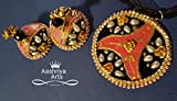 Paperbase jewlry - Quilled jhumkas and paperbase pendant