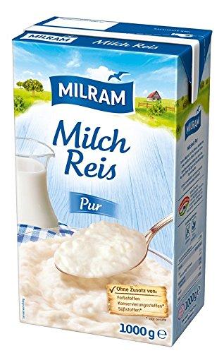 MILRAM Milchreis Pur, 12er Pack (12 x 1 kg)