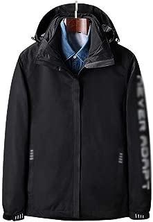 FYXKGLa Women's Arm Print Three-in-One Jacket Waterproof Windproof Mountaineering Jacket Warm Jacket (Color : Black, Size : XXXXL)