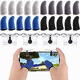Sumind 24 Piezas Funda de Dedo de Juegos Móviles Manga del Dedo de Pantalla Táctil Manga de Dedo Transpirable Antisudor y Botón de Disparo del Objetivo para Jugar Juegos de Telefonía Móvil