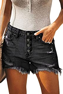 Denim Hot Shorts for Women Casual Summer Mid Waisted...