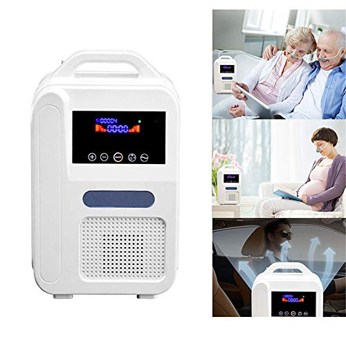 Portable Oxygen Concentrator Generator, Oxygen Machine Thuis Air Purifier 12V Flow Air Purifier High Purity Oxygen Generator Ventilator voor thuis en onderweg gebruik