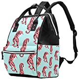 Inhomer Fierce Pink Tigers Diaper Bag Travel Mom Bags Nappy Backpack Large Capacity for Baby Care