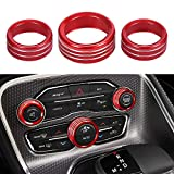 Thor-Ind AC Air Conditioner Volume Tune Knob Button Cover for Dodge Ram 1500 2500 3500 2013 2014-2018 for Dodge Challenger Charger Chrysler 300 300s 2015 2016 2017 2018 2019 2020 (Red)