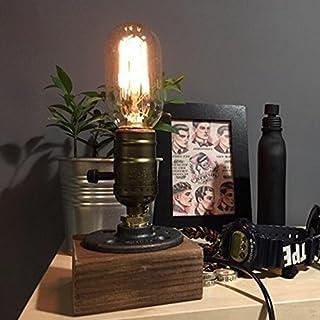 rh-mall bordslampa, lampan från Edison T45 vinmotiv, tak slang D 'Eau à dimbar stånghus ljusdekoration