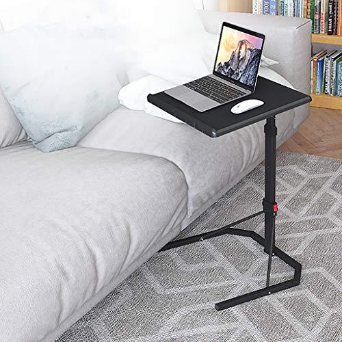Opvouwbare Laptop Tafel Zwart Met Verstelbare Hoogte en Tilt Hoek Opvouwbare computer tafel eenvoudige verwijderbare nachtkastje lift sofa tafel bed notebook learning desk