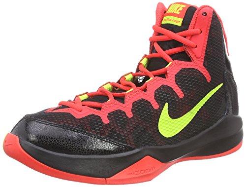 Nike Zoom Without A Doubt, Zapatillas de Baloncesto Hombre, Black/Volt-Bright Crimson-Chrm, 42.5