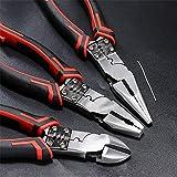 WY-YAN Multiherramienta combinación alicates pelacables/Crimper/cortador CR-V cromo vanadio Herramientas de mano Alicates Diagonal multiherramienta Juego de alicates (Size(inch) : 3Pcs Set)