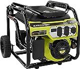 Ryobi Portable Generator 6,500-Watt Gasoline Powered Shutdown Sensor Muffler (Renewed)