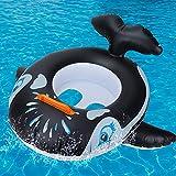 GUBOOM Flotadores Bebe, Tiburón Anillo de Natación para Bebé, Anillo de Natación Asient, Juguetes de Ayuda a la flotabilidad para niños pequeños, adecuados para niños de 6 a 36 Meses (Negro)