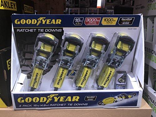 GoodYear Comercial Grade 16 Foot 8 Piece Ratchet Tie Down Straps