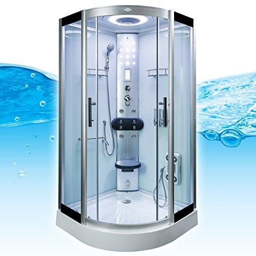 AcquaVapore DTP8058-5002 Dusche Dampfdusche Duschtempel Duschkabine 90×90 XL, EasyClean Versiegelung der Scheiben:2K Scheiben Versiegelung +89.-EUR - 4