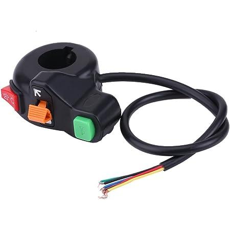Keenso 7 8 Zoll 22mm Universal Lenker Blinker Licht Scheinwerfer Horn Schalter Griff Schalter Auto