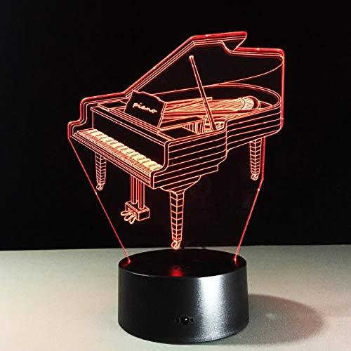 3D Piano Dekorative Tischlampe Saxophon Orchestermusik Geschenke Indoor Home Decoration Multi-Farbwechsel LED Nachtbeleuchtung