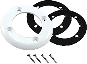 Puri Tech Replacement Parts for Vinyl Pool Return Faceplate for Hayward SPX1408B Includes 2 Gaskets and 4 Screws Fits SP1411, SP14071, SP1408 Models White