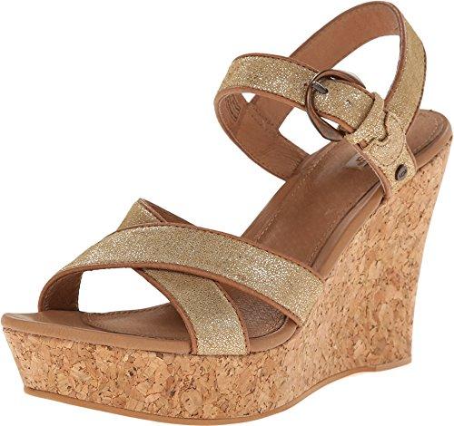 UGG - Jazmine Chaussures plates pour femme - Or - or, 36 EU EU