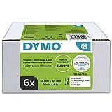 DYMO LW Etichette Originali Grandi Per Spedizioni, 54 x 101 mm, 6 Rotoli da 220 Etichette ...