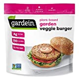 Gardein Gluten-Free Garden Veggie Plant-Based Burger, Vegan, Frozen, 12 oz. 4-Count