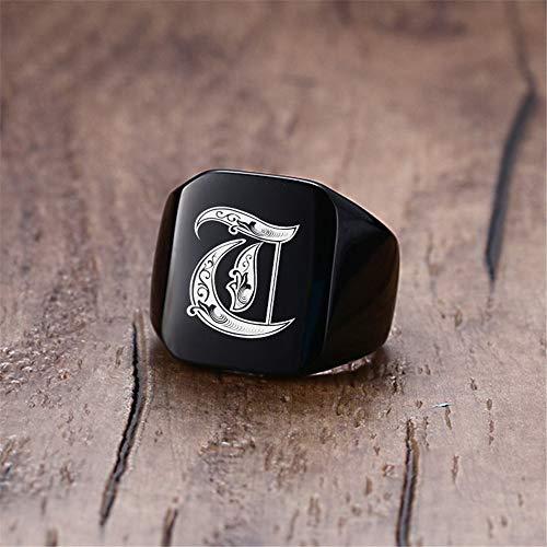 Anillos redondos pulidos de acero inoxidable – Anillo vintage de acero inoxidable para hombre – Punk Rock Anillo de hombre de tamaño ajustable a 7 – 12 dedos joyas nunca se desvanecen