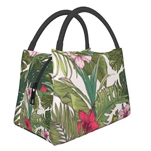 Bolsa de almuerzo portátil con aislamiento Cool (Sketch Tropical Flower Summer) 8.5L