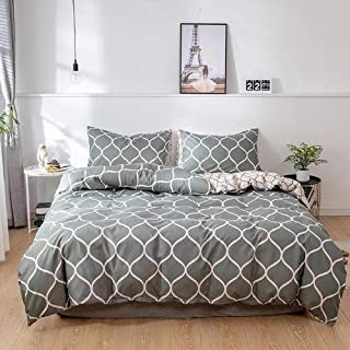 King Size, Geometric Design, Bedding Set of 6 Pieces