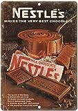 Vintage Retro Aluminum Sign Nestles Milk Chocolate Vintage Metal Sign 7 X 10 Inches