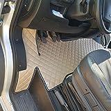 KRAM-TRUCK Alfombrillas Acolchadas Compatible con Fiat Ducato, Peugeot Boxer, Citroen Jumper de 2006, Beige Claro, Cuero sintético Esponjoso 1 cm, Certificado de higiene, Fundas cómodas