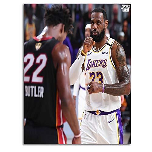 Póster de baloncesto Ghychk Superstar King Lebron-James Arte Pinturas HD Impresión sobre lienzo para sala de estar dormitorio decoración, sin marco, 45 x 24 pulgadas