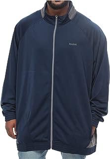 Reebok Blue Polyester Zip Up Hoodie For Men