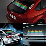 DIYAH Auto Sound Music Beat Activated Car Stickers Equalizer Glow LED Light Audio Voice Rhythm Lamp 45cm X 11cm / 18in X 4.5in (Multi Color)