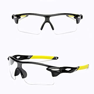 Stylish Glasses UV Protection Glasses For Riding Driving Fishing Golf Polarized Outdoor Sport Cycling Glasses Cycling Sunglasses Clothing Accessories (Color : Clear)