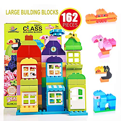 Building Blocks STEM Educational Construction Building Bricks Set for Ages 3yr-6y Boys & Girls DIY Classic Toy Bricks, Best Compatible Blocks Toy Gift for kids Toddlers Creative Fun Kit